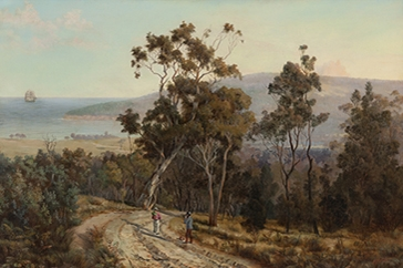 Henry Reilly, Mount Martha from Dromana, 1875