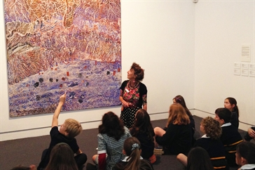 students at Mornington Peninsula Regional Gallery