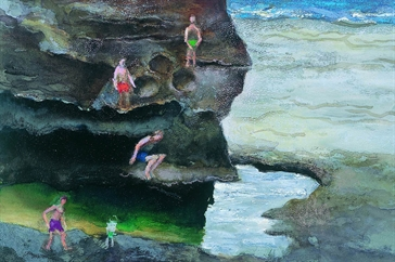 Albert Tucker, Back beach rock pool